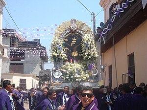 La Victoria District, Lima - Procession of Lord of Miracles of La Victoria District, Nov 2008