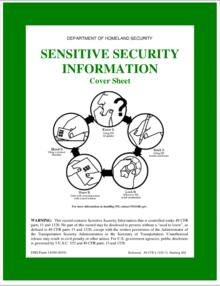 Sensitive Security Information - Wikipedia