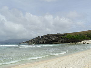 Batanes - White sand beach at Sabtang island