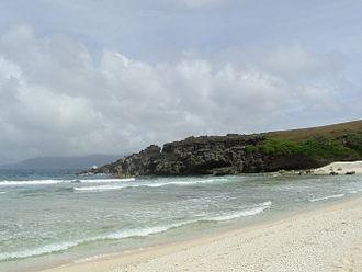 Batanes - White sand beach at Sabtang island