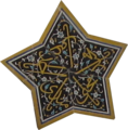Safaviyya star from ceiling of Shah Mosque, Isfahan
