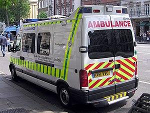 St John Ambulance Crusader ambulance in a Lond...