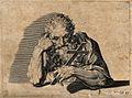 Saint Jerome. Line engraving. Wellcome V0032292.jpg