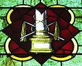 Saint Luke Catholic Church (Danville, Ohio) - stained glass, pillar & scourges.JPG