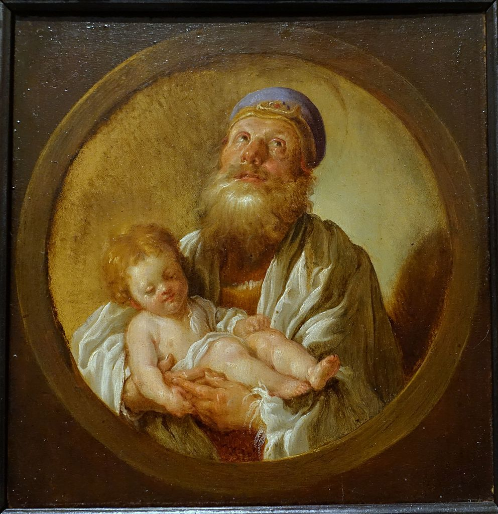 File Saint Simeon Holding The Christ Child Domenico Fetti
