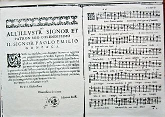 Salamone Rossi - Opening of Rossi's Madrigaletti, Venice, 1628