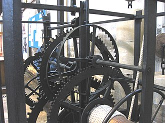 Salisbury cathedral clock - The going train of the clock