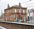 Saltcoats station, old offices and station master's house, North Ayrshire, Scotland.jpg