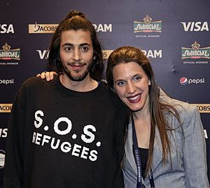 Eurovision Song Contest 2017 - Salvador Sobral and Luísa Sobral at the first semi-final winners' press conference