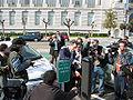 San Francisco's Mayor Gavin Newsom at the Green Showcase in from of City Hall 02.jpg