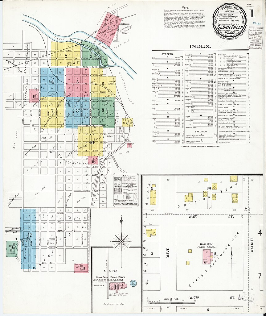 File Sanborn Fire Insurance Map from Cedar Falls Black Hawk County
