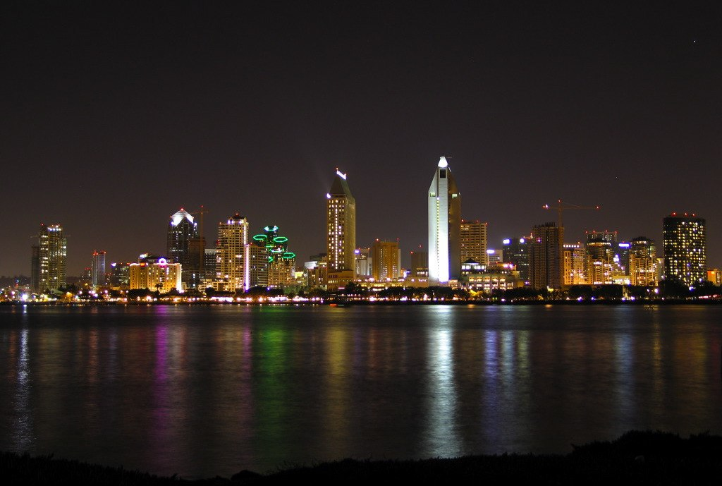 Sandiego skyline at night