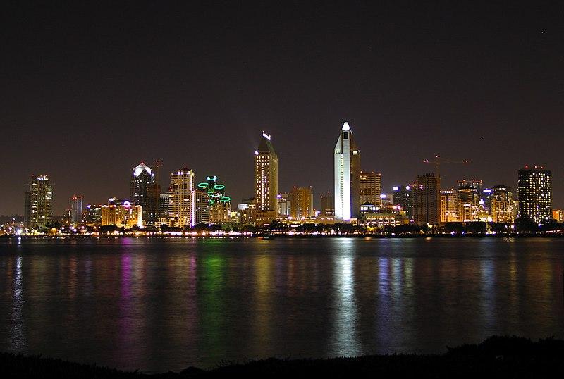 File:Sandiego skyline at night.JPG