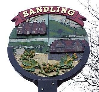 Village sign - Image: Sandling village sign geograph.org.uk 101692