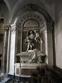 Sant'agata dei goti, cenotafio in stucco al cardinale Carlo Bichi, xviii sec.JPG