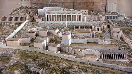 Modell des Heiligtums von Delphi (Archäologische Stätte von Delphi; UNESCO-Welterbe in Griechenland), Santuario Delfos