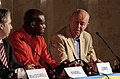 Save The World Awards 2009 press conference - Georg Kindel, Carl Lewis and Helmut Kutin.jpg