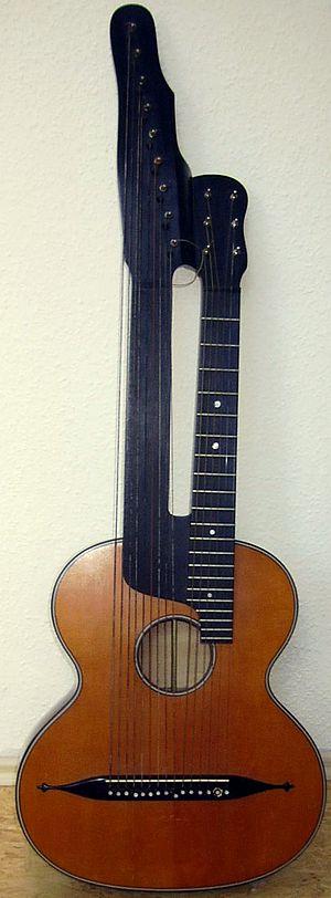 """Contraguitar - A Viennese """"Schrammel guitar."""""""