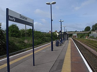 Seamer railway station - The station, viewed from the platforms