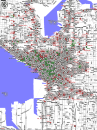 Map of Seattle's Wi-Fi nodes