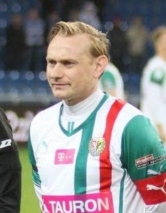 Sebastian Mila - Mila as a captain of Śląsk Wrocław in 2014