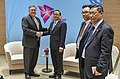 Secretary Michael R. Pompeo shakes hands with Burmese FM Tin (42929670385).jpg