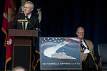 Secretary of the Navy Ray Mabus announces the U.S. Navy's naming of the newest littoral combat ship, USS Gabrielle Giffords (LCS 10), Feb. 10, 2012, at the Pentagon 120210-D-TT977-132.jpg