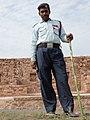 Security Guard outside Palace - Fatehpur Sikri - Uttar Pradesh - India (12635098603).jpg
