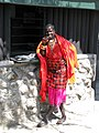 Security guard in Ethnic Masai dress (7512931312).jpg