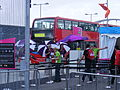 Security screening area, 2012 Olympic games LK12 AVN of Metroline. (7721478280).jpg