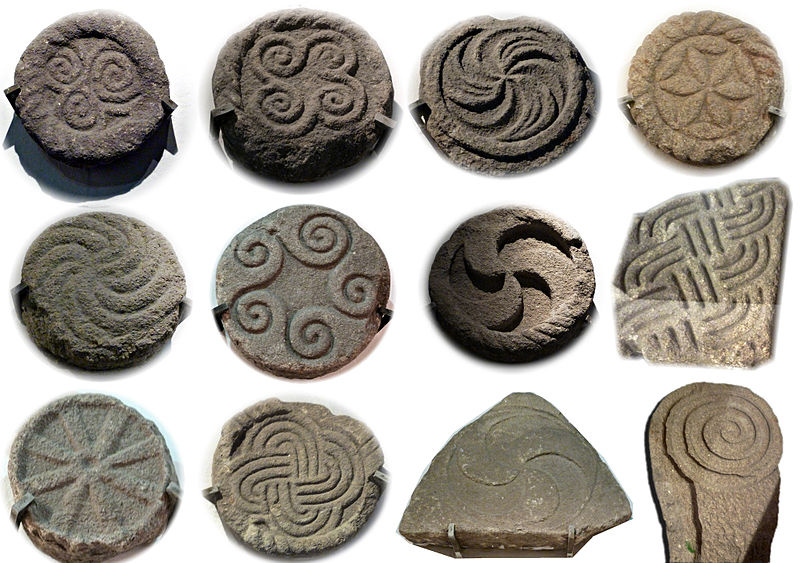 Archivo:Selection of carvings from the Castro de Santa Trega.jpg