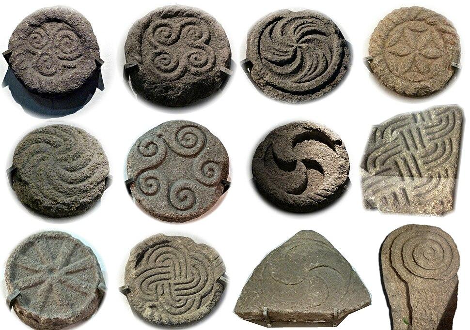 Selection of carvings from the Castro de Santa Trega