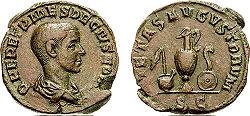 מטבע ססטרטיוס נושא את דיוקנו של הרניוס אטרוסקוס