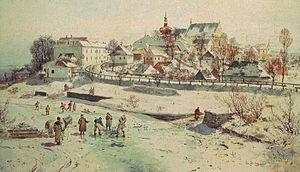 Seweryn Bieszczad - A painting of Krosno