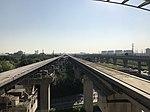 Shanghai Maglev Line from platform of Longyang Road Station (Shanghai Maglev) 3.jpg
