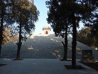 Shaohao - A stone-faced pyramid at the Shaohao Tomb near Qufu