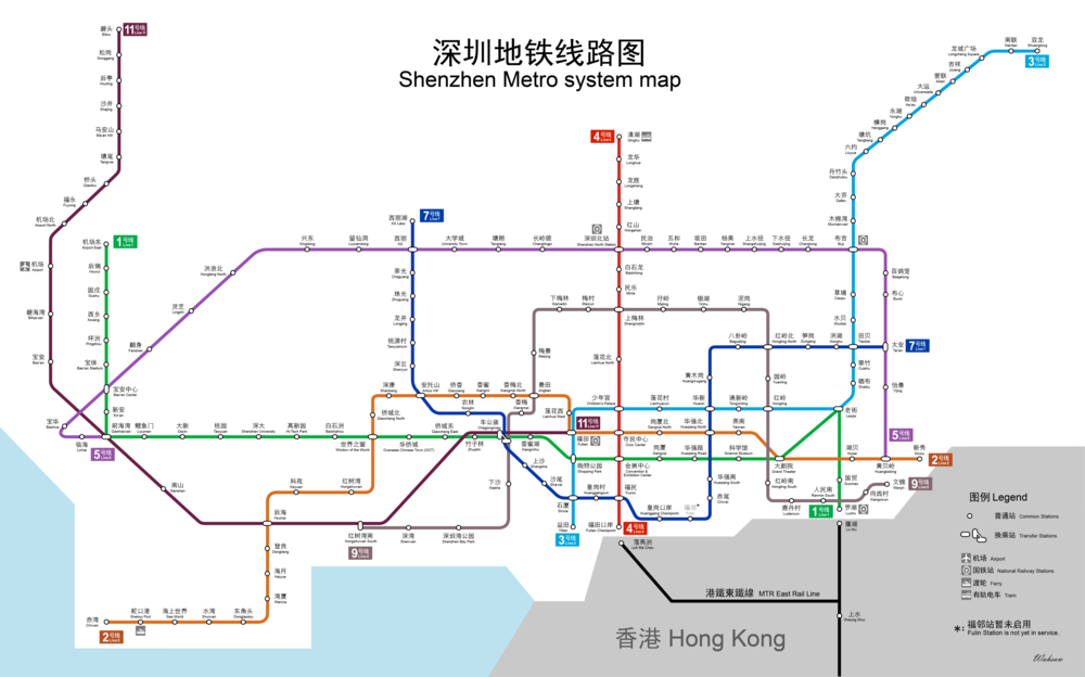 Subway Map Shanghai 2011.Shenzhen Metro Wikipedia
