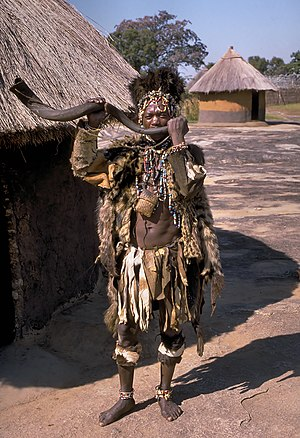 English: Witch doctor of the Shona people clos...