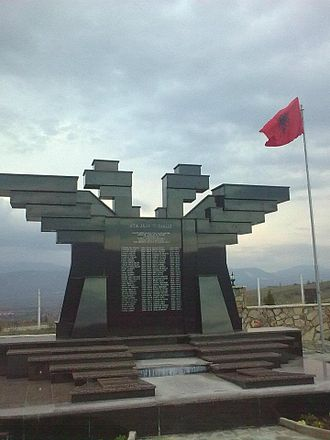 Albanian nationalism (Republic of Macedonia) - Monument to fallen NLA fighters, Sopot
