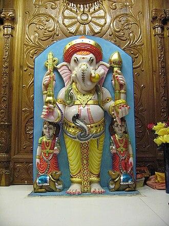 Shri Swaminarayan Mandir, New Jersey (Colonia) - Image: Shree Ganeshji