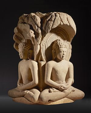 Sculpture in South Asia - Shrine with Four Jinas Rishabhanatha, Parshvanatha, Neminatha, and Mahavira, 6th century