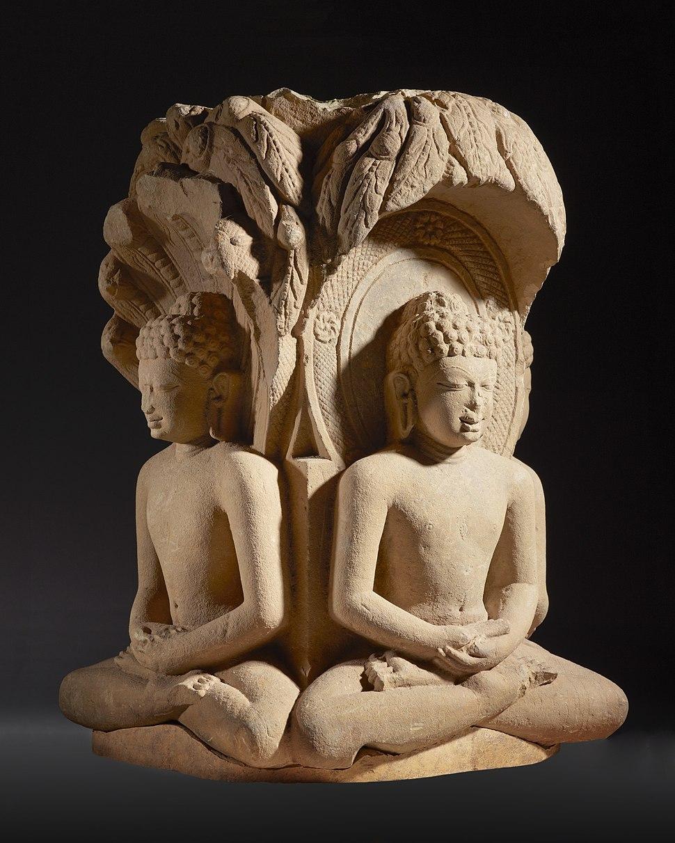 Shrine with Four Jinas (Rishabhanatha (Adinatha)), Parshvanatha, Neminatha, and Mahavira) LACMA M.85.55 (1 of 4)