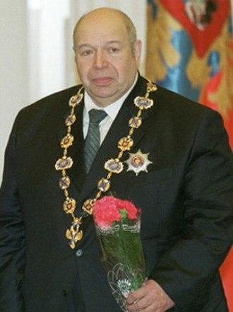 Valery Shumakov - Shumakov at the state ceremony receiving the Order of Saint Andrew (2002)