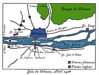 Siege of Orléans - English outworks during the siege of Orléans