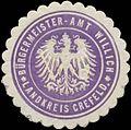 Siegelmarke Bürgermeister-Amt Willich W0332873.jpg