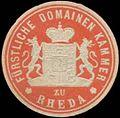 Siegelmarke Fürstliche Domaine Kammer zu Rheda W0334239.jpg