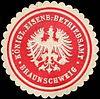 Siegelmarke Königliche Eisenbahn - Betriebsamt - Braunschweig W0219104.jpg