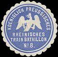 Siegelmarke K.Pr. Rheinisches Train Bataillon No. 8 W0370658.jpg