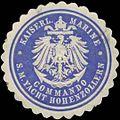 Siegelmarke K. Marine Kommando S.M. Yacht Hohenzollern W0357707.jpg