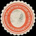 Siegelmarke Polizeiamt Magistrat der Residenzstadt Bückeburg W0383992.jpg